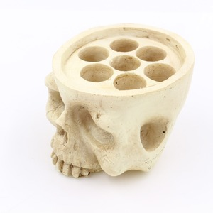 Image 3 - tattoo accessories Skull Head 7 Holes Hard Resin Tattoo Ink Cup/Caps Holder Tattoo Ink Cup Holder Tattoo Accessory Free Shipping