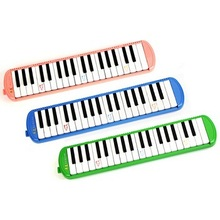 Free shipping 37 key children standard teaching special harmonica , multicolor mouth organ