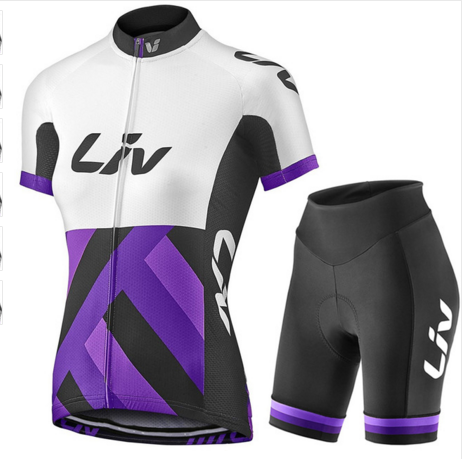 2017 new team liv cycling Jersey cycling clothing set Roupa Ciclismo 100% Polyester Cycle jerseys With Gel Pad Shorts pants