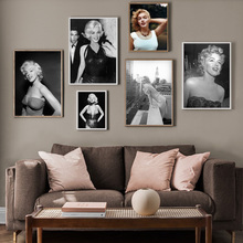 Nordic Poster Marilyn Monroe Photo Movie Star Vintage Prints Wall Art Canvas Painting Pictures For Living Room Decor