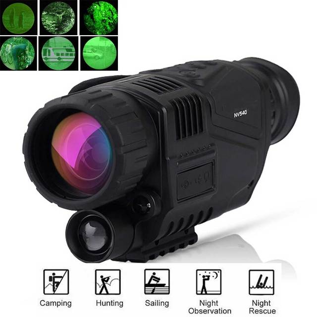 US $219 99 |Best Monocular Hunting Night Vision infrared Digital Scope  Telescope long range built in Camera Shoot Photo Recording Video-in