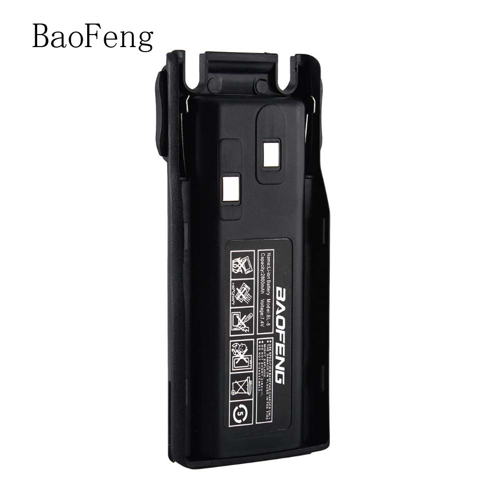 New Baofeng BL-8 2800mAh 3800mAh 7.4V Li-ion Battery for UV-82 UV-8D UV-89 UV-8 Two Way Radio