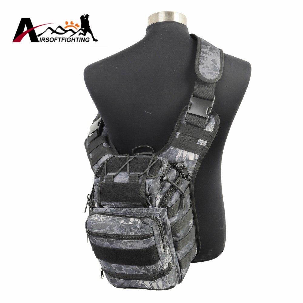 Prix pour 600D Molle Tactique Versipack Messenger Épaule Simple Utility Pouch Extérieure Militaire Combat Chasse Camouflage Taille Sac
