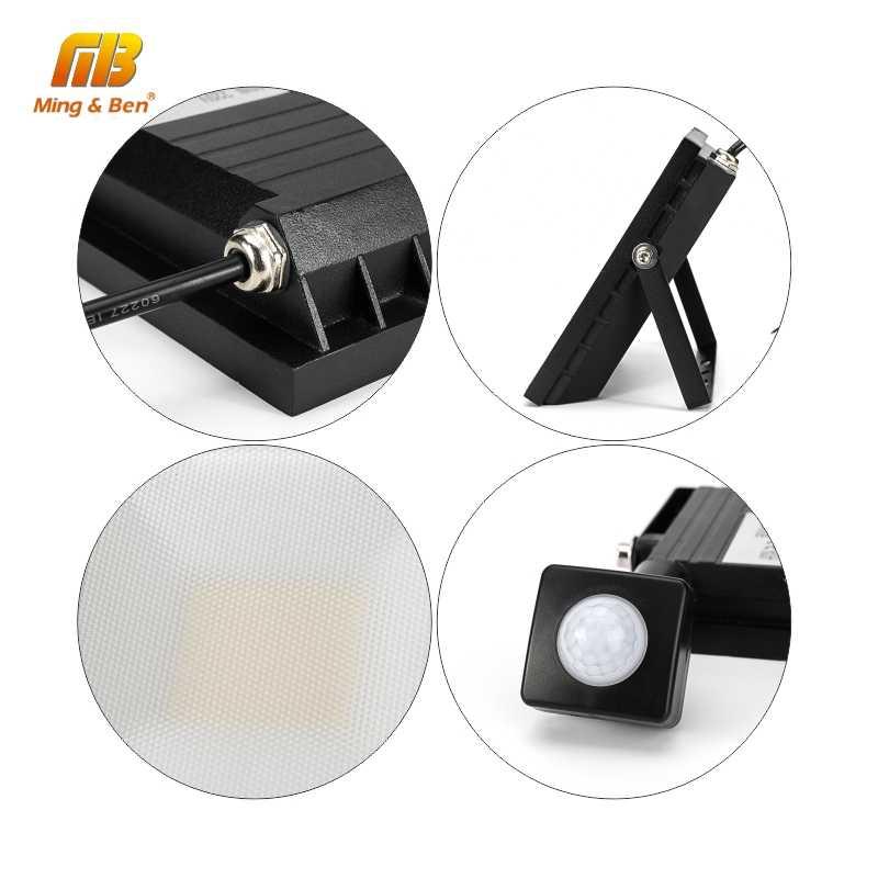 Инфракрасный датчик движения светодиодный прожектор 15 Вт 30 Вт 45 Вт, 60 Вт, SMD2835 открытый прожектор настенный светильник отражатель IP65 Водонепроницаемый огни