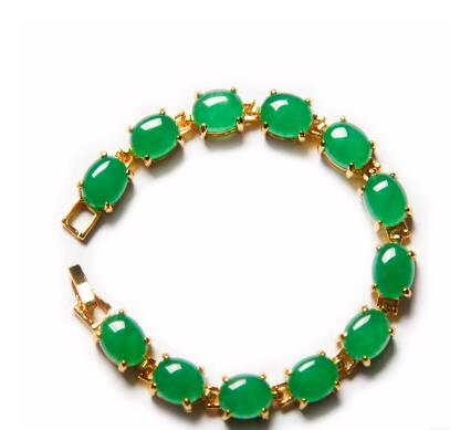 Ladys green pillar chain braceletLadys green pillar chain bracelet