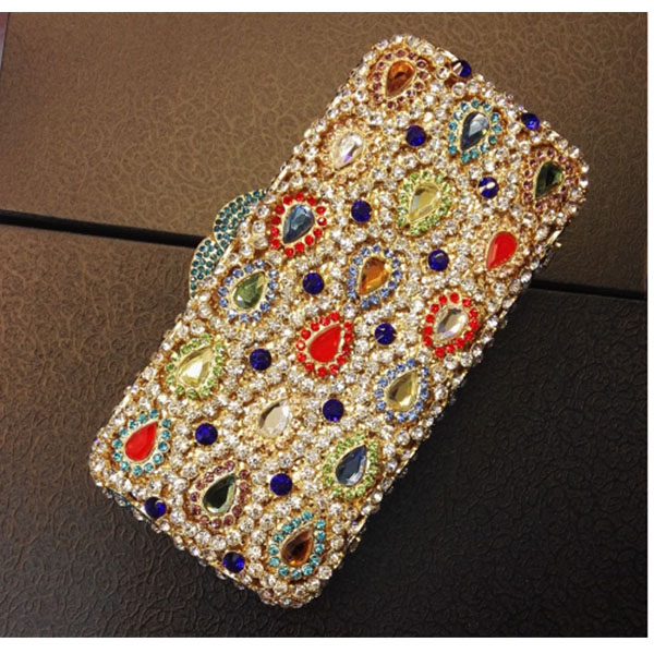 colorful crystal Handbag Women Shoulder Bags Day Clutch bride Rhinestone Evening Bags for Wedding Party Clutches Purse for lady retro 2017 floral beaded handbag women shoulder bags day clutch bride rhinestone evening bags for wedding party clutches purses