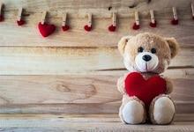 Купить с кэшбэком Laeacco Baby Toys Teddy Bear Heart Clamp Wooden Boards Party Portrait Photo Backgrounds Photo Backdrops Photocall Photo Studio