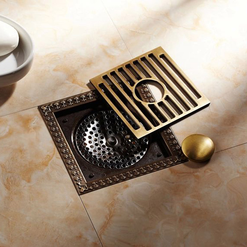 New-Arrival-Antique-Brass-12-12cm-Square-Floor-Drain-Shower-Drain-Bathroom-Furniture-HJ-8701T (3)