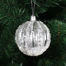Pack of 6 Clear Plastic Acrylic Christmas Hanging Ball Ornaments 60mm