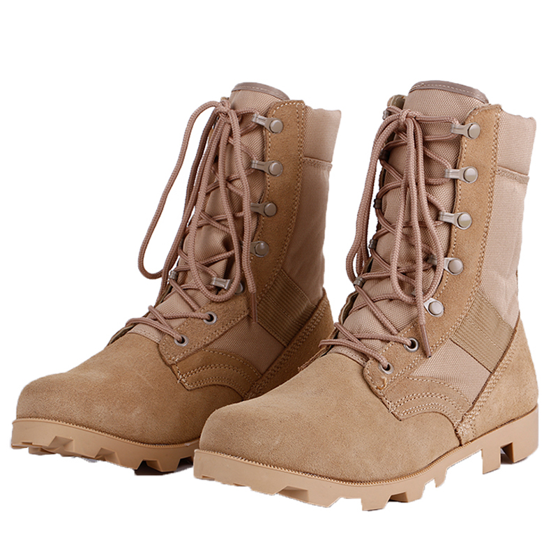 2018 Winter Tactical Boots Men Breathable Camouflage Army Desert Safety Shoes Military Combat Boots