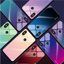 Градиент закаленное Стекло чехол для телефона для Xiaomi 9 SE Honor 8 Lite 6X5X6 Mix3 Mix 2 s Max3 Redmi Note 5 7 6Pro A2 плюс F1 Чехлы для сотовых телефонов