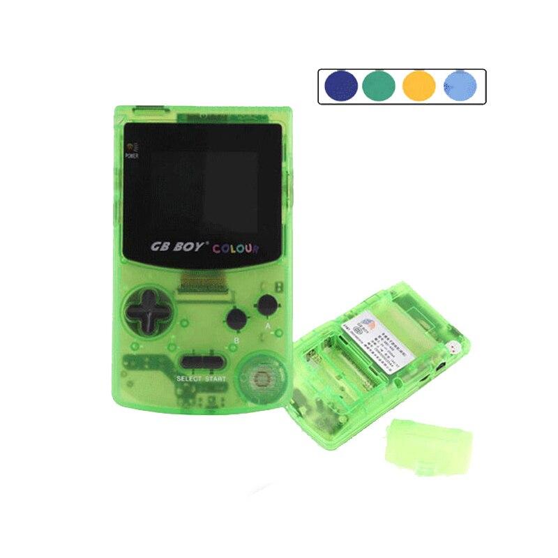 Jogador handheld das consolas do jogo da cor do menino do gb com retroiluminado 66 jogos incorporados 5 cores gb jogos à mão do menino