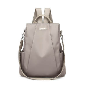 Cloth Backpack Travel-Bag Oxford Large-Capacity Anti-Theft Waterproof Fashion Women Zipper