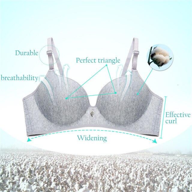Chất Cotton thời trang Áo Ngực Không Dây Sexy Nữ Bralette 3/4 Cốc Liền Mạch Áo Lót Thoải Mái Yếm Nữ Dây Giá Rẻ Quần Lót B Cup mới