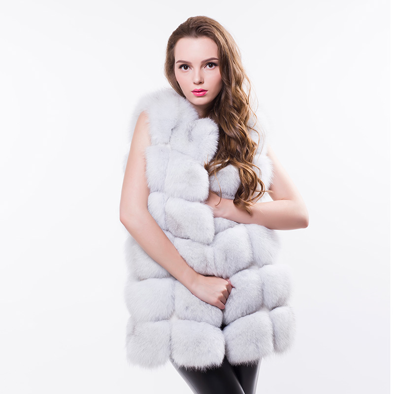 The Fox Vest In Long Section Of 2016 New Women