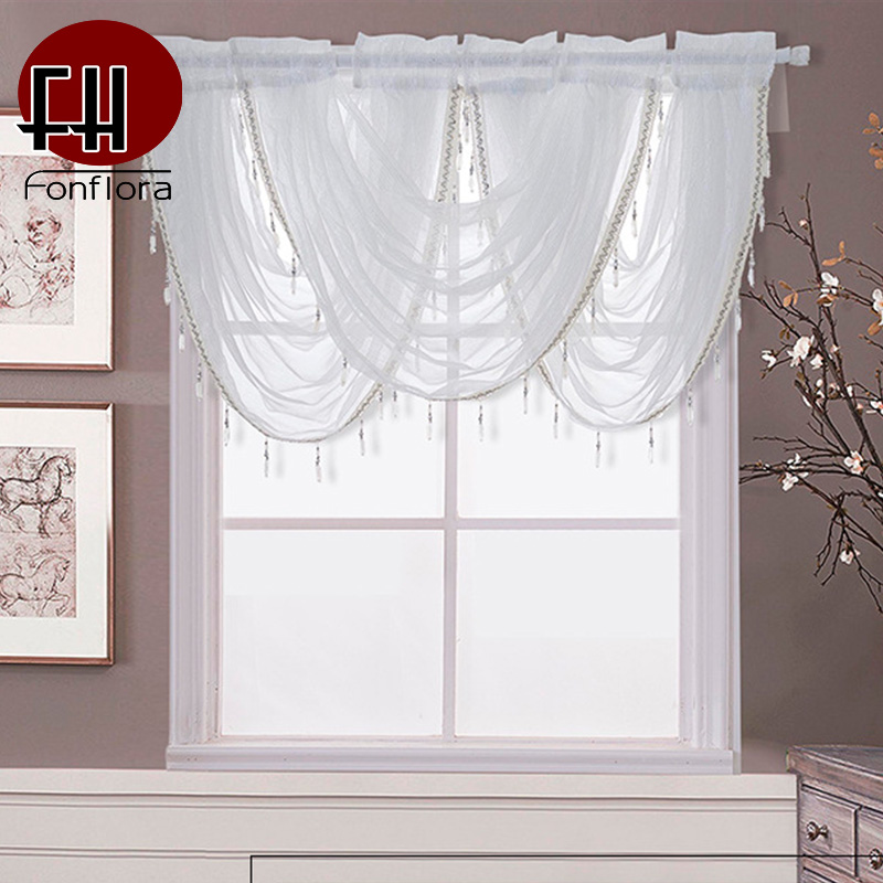 44 Blue Curtain Designs Living Room Sheer Curtain Ideas: Solid White Valance Curtains Tulle For Living Room Voile