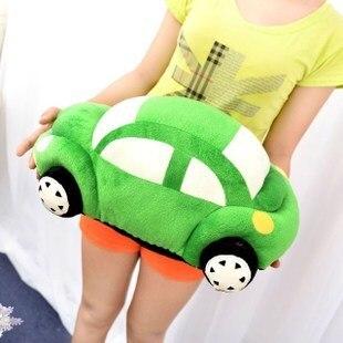 ФОТО stuffed plush 55cm car plush toy green car doll w1544