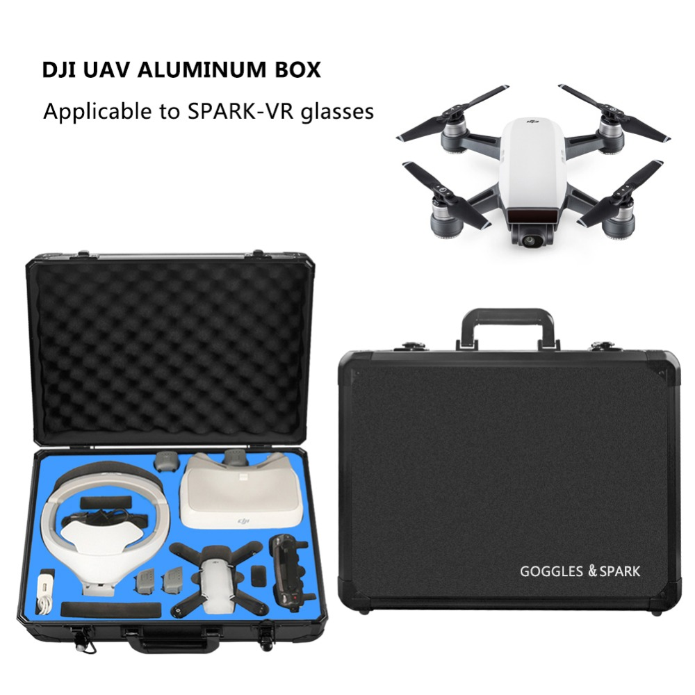 DJI Drone VR Glasses Professional Handbag DJI Spark Drone Suitcase Case Box VR Goggle Glasses Accessories Storage Backpack rc dji mavic pro professional waterproof drone bag hardshell portable case handbag backpack battery charger storage bag