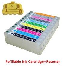 11 pcs 700 ml rechargeable cartouche avec resetter pour Epson grand format Stylus Pro 7900 9900 7910 9910 imprimante avec haute qualité