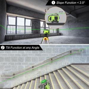 Image 5 - Huepar Electronic Self Leveling 3D Green Beam Laser Level 3x360 Cross Line Three Plane Leveling Alignment  Dual Slope Function