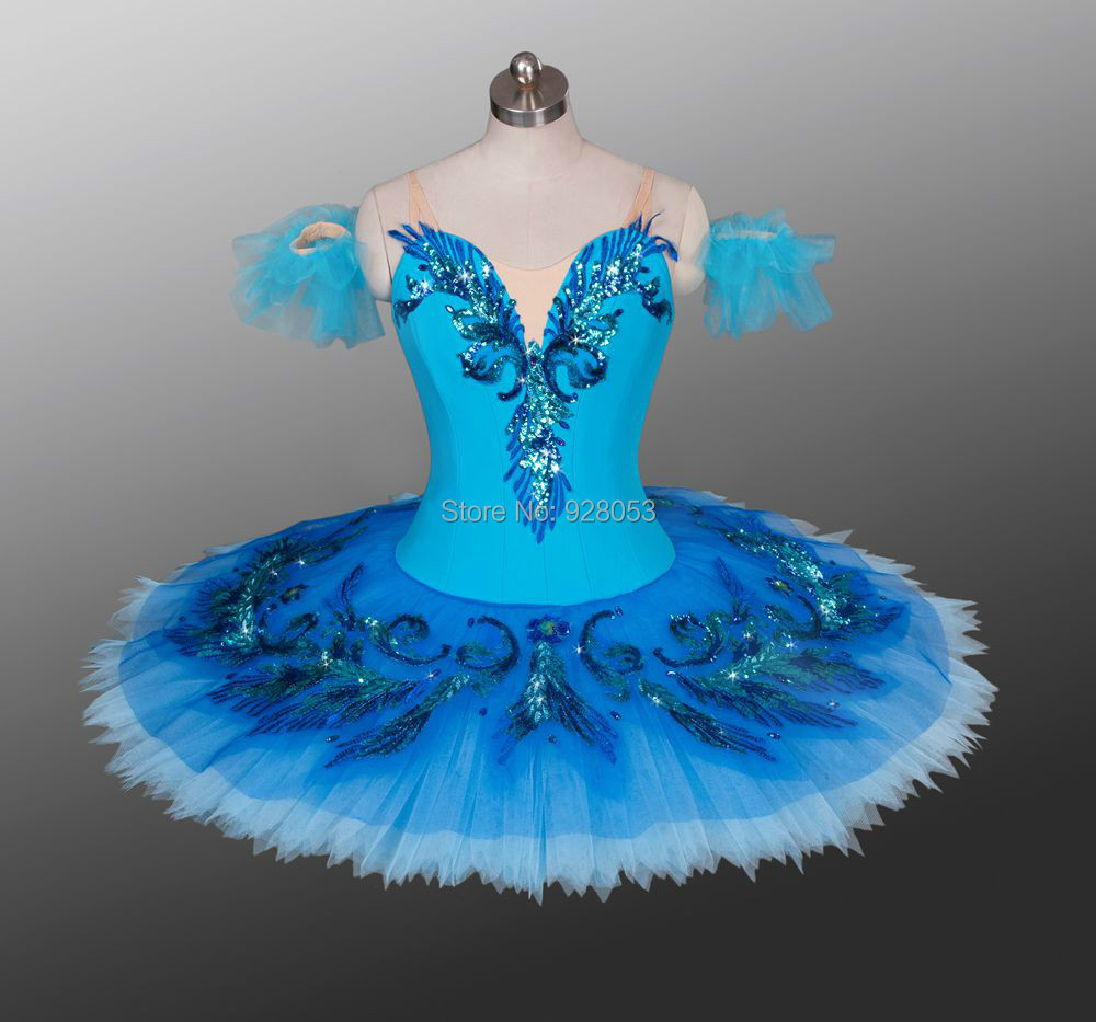 Adult Blue Bird Tutu Classical Ballet Tutus Bailarina Stage Costumes For Competition Or Performance 12 Layers