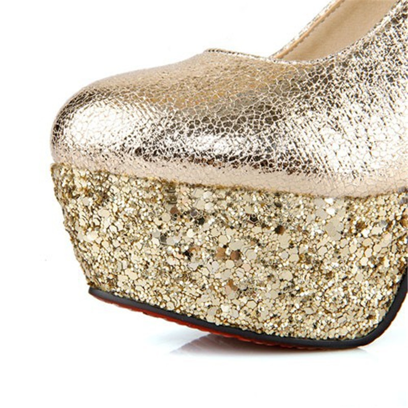 Plattform Mode Heels Dünne Pumpt Stil Frauen Enmayer Riemen Schwarzes Knöchel Pumpen Neue Schuhe weiß High gold silber Hochzeit Runde Kappe 48w66x