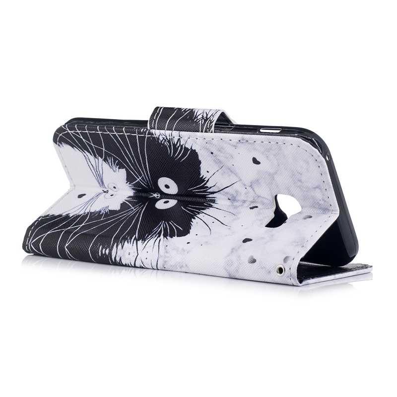 ل Coque سامسونج غالاكسي A5 2017 حافظة محفظة جلدية فتحة بطاقة الهاتف eتوي اغلفة السامسونج غالاكسي A5 2017 SM-A520F يغطي