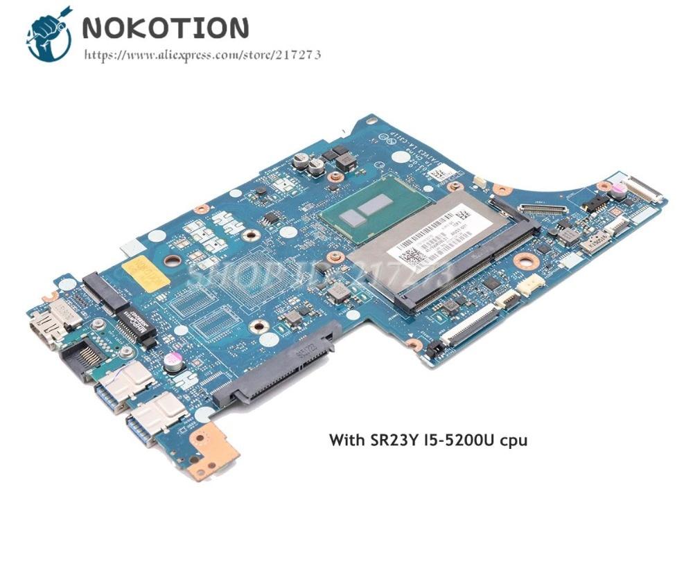 NOKOTION For Lenovo Ideapad E31-70 Laptop Motherboard 13.3 inch AIVS3 AIVE3 LA-C311P SR23Y I5-5200U CPUNOKOTION For Lenovo Ideapad E31-70 Laptop Motherboard 13.3 inch AIVS3 AIVE3 LA-C311P SR23Y I5-5200U CPU
