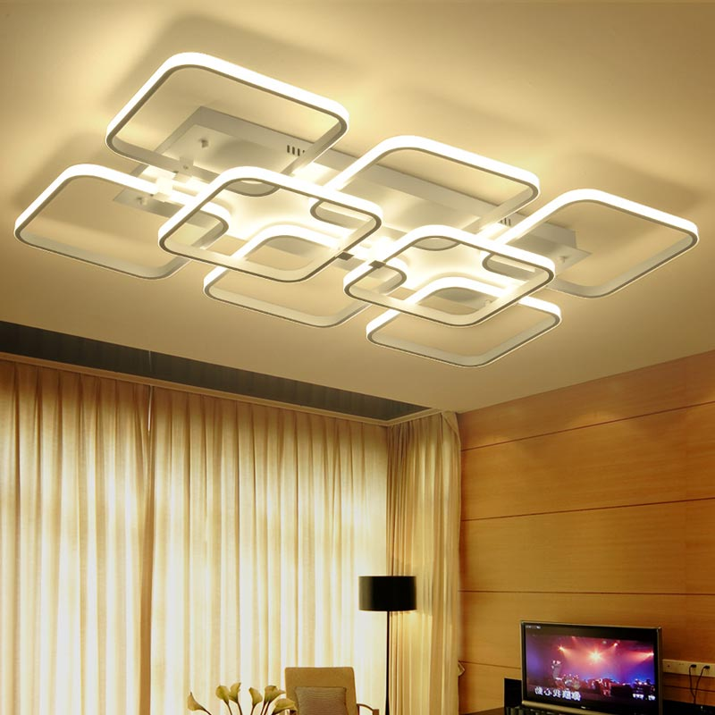 Modern LED Ceiling Light Rectangle Style Acrylic Shade With Butterfly Kitchen