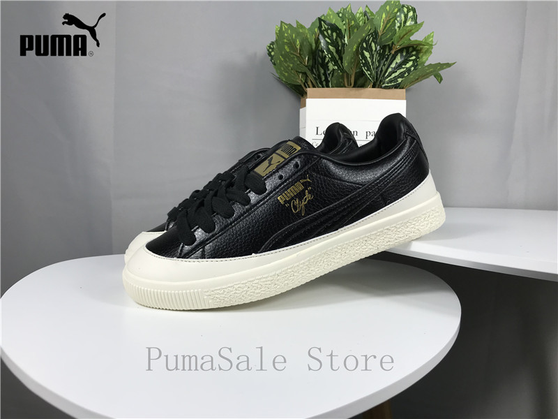 15feeb6c6080 PUMA Mens Clyde Rubber Toe Leather Men s Shoes 366986 01 02 Black White Low  Top Sneaker Badminton Shoes EUR40 44-in Badminton Shoes from Sports ...