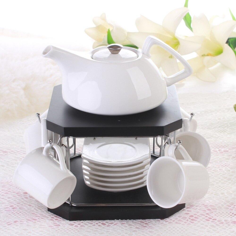 Korea Style ceramic coffee tea set 6 cup 1 teapot coffee