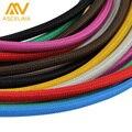 Оптовая Цена 3 м/лот 2x0.75 Цвет Витой Витой Кабель Ретро Плетеные Электрический Провод Ткань Провода Провода Двухкомфорочная кабель