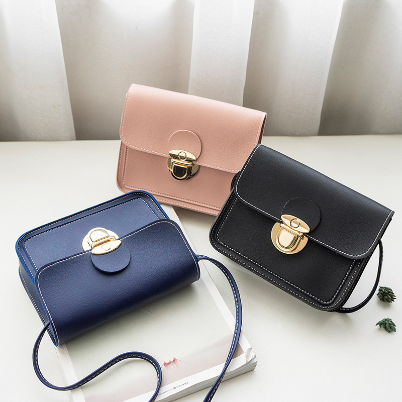 Wholesale Shoulder Bag Handbag Women 2019 Mini PU Leather Crossbody Bag Female Small Mobile Phone Messenger Bag For Teenage Girl
