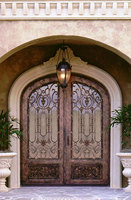 Handmade custom size wrought iron doors one top service shipping to USA factory price hench id4