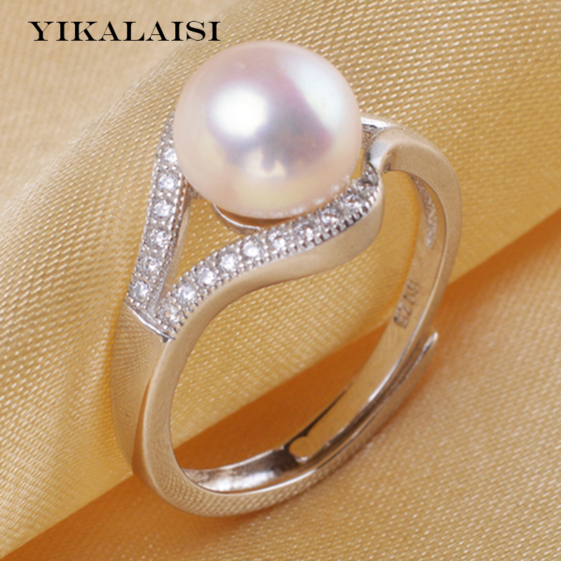 2017 new fashion 925 sterling silver 8-9mm pearl jewelry for women100% genuine natural pearl for girls