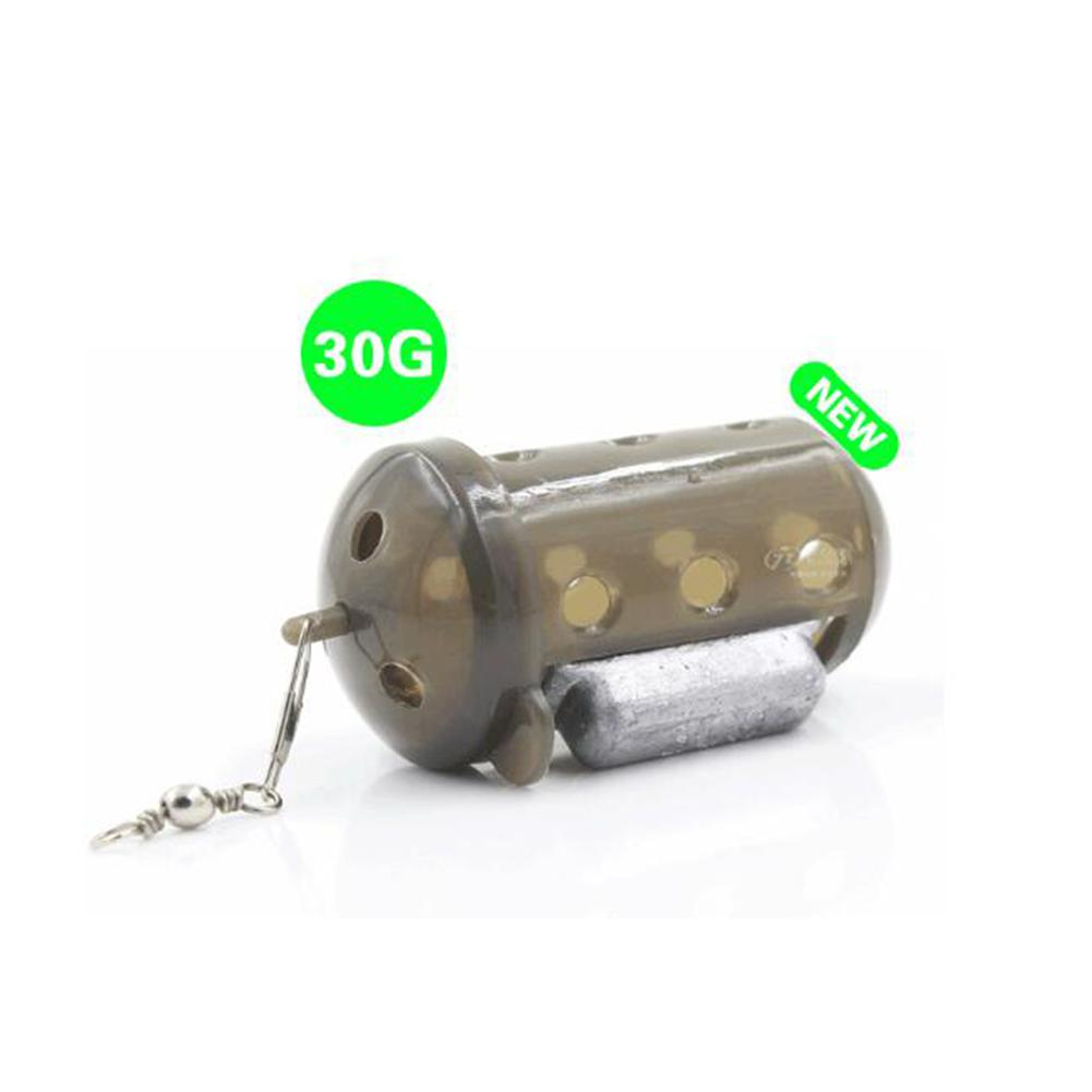 LumiParty Fish Bait Cage Fishing Lure Basket Holder Fishing Feeder Cage with Lead