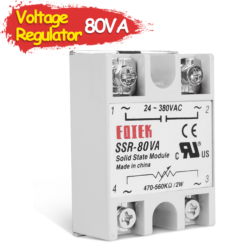 80VA Single Phase Solid State Relay Volt Regulator Shift Module Voltage Regulator Fully Isolated SSR Resistance hoymk ssr 60da 60a single phase dc solid state relay control communication relay solid state resistance regulator