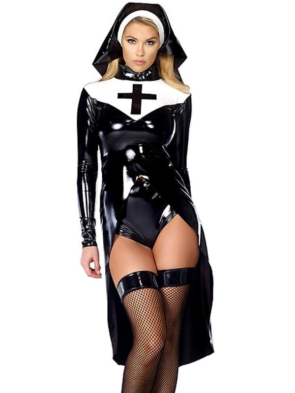Women Sexy Halloween Costumes womens wonder lady costume Sexy Saintlike Seductress Sultry Costume Woman Halloween Nun 2016 Unique Design Cosplay Costume W850640china