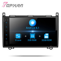 Double Din Autoradio Car Radio 8 Inch Android 8.1 For Benz B200 2009 Car GPS Navigation Multimedia No dvd Player Stereo