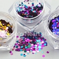 12 Pots Mixed Colors Round shape Glitter  Nails Sequins Decals Nail Art Decoration Accessories manicure tools 2017 new Arrival