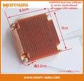 Быстрый Свободный Корабль Для intel5520 двойной путь 1366 контактный 1u сервер материнская плата все-медный радиатор ПРОЦЕССОРА X58 платформы Меди радиатор