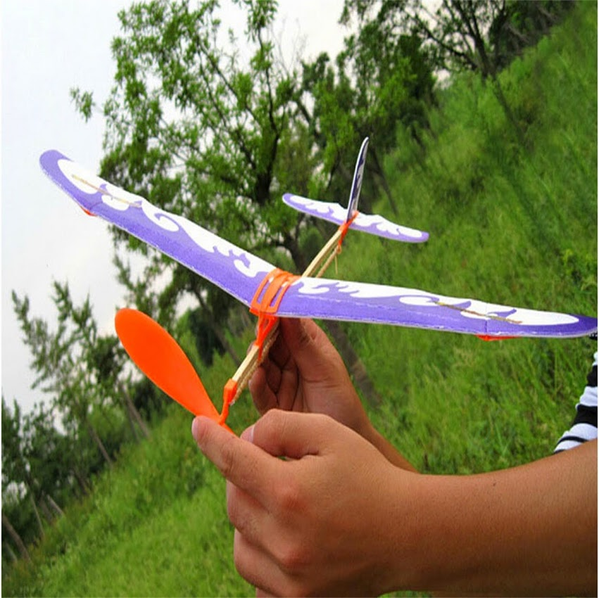 Νέα ελαστική ταινία καουτσούκ Powered Flying αεροπλάνο αεροπλάνο ανεμοπλάνο DIY Μοντέλο Συνέλευση Παιδικά Επιστημονικά Εκπαιδευτικά Παιχνίδια Χριστουγεννιάτικο δώρο