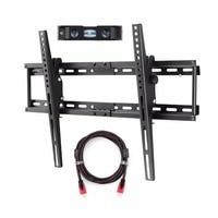 Suptek TV Wall Bracket Mount for Most of 32 70 inch Plasma Flat TV Load Capacity 165lbs 15 Degree Tilt Up Down, Max VESA 600x400