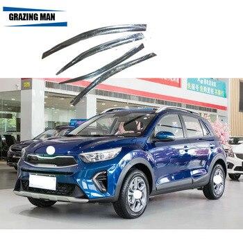 Sun visor 4 Plating chrome Car Window Visor Wind Deflector Sun Rain Guard Defletor for KX1 2018