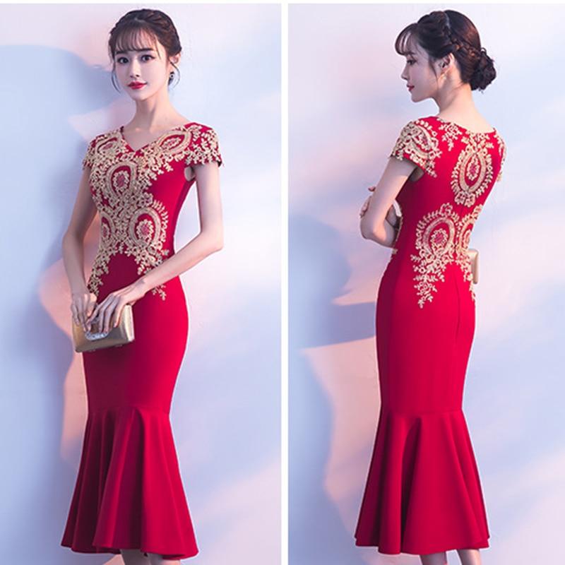 Dongcmy curto vermelho cor celebridade vestidos de