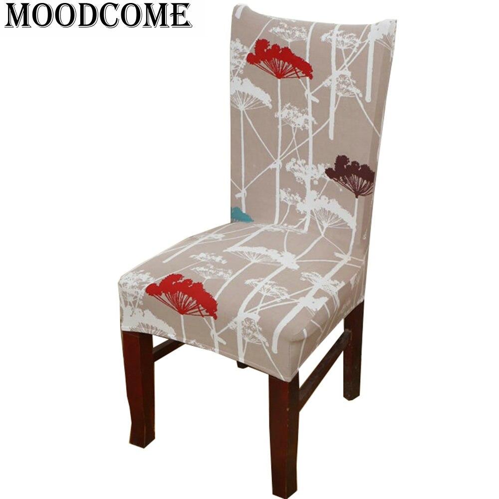Flower bones chair cover elastic spandex funda silla comedor housse ...