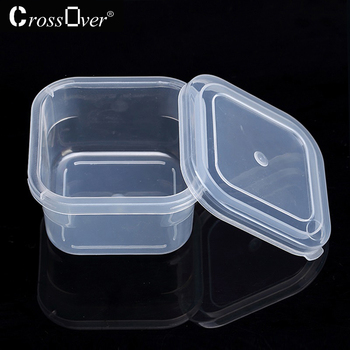 High quality Square plastic box with lid Home storage box for Candy jewelery snack small parts finishing Transparen storage box