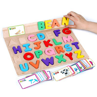 מכתב עץ סטריאוסקופית מחקר לוח פאזל צעצוע פאזל ילדים מוקדם ללמוד צעצועים חינוכיים אנגלית