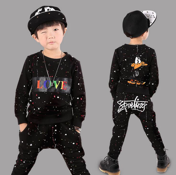 Boys Clothing Set Autumn Children Long Sleeve Doodle Sweatshirts + Pants Winter Kids Sport vetement garcon For 4 6 8 10 12 Years kids boys autumn clothing set new children spring and autumn leisure sport long sleeved two piece 5 8 10 12 age kids coat pants