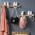 Simple European fresh pastoral stereo bird hook creative porch entrance wall decoration coat hook key holder